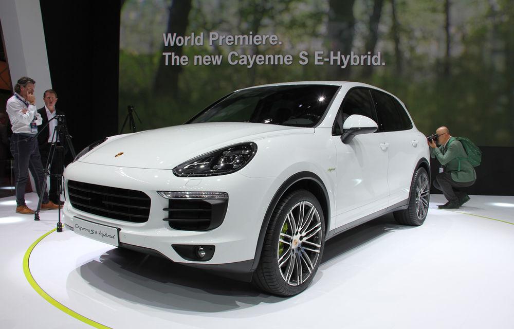 PARIS 2014 LIVE: Porsche Cayenne S E-Hybrid - primul SUV premium alimentat la priză din lume are 416 cai putere - Poza 2
