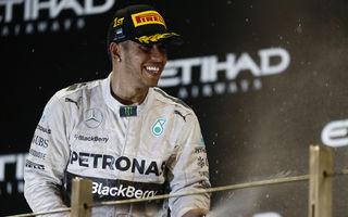 Hamilton a câştigat în Abu Dhabi şi a cucerit al doilea titlu mondial din carieră!