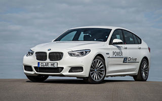 BMW Seria 5 GT Power eDrive - conceptul unui hibrid de 670 de cai putere și autonomie electrică de 100 de km