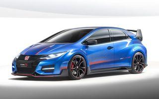 Honda a deschis listele de comenzi pentru Civic Type R în Regatul Unit deşi versiunea de serie nu a fost prezentată încă