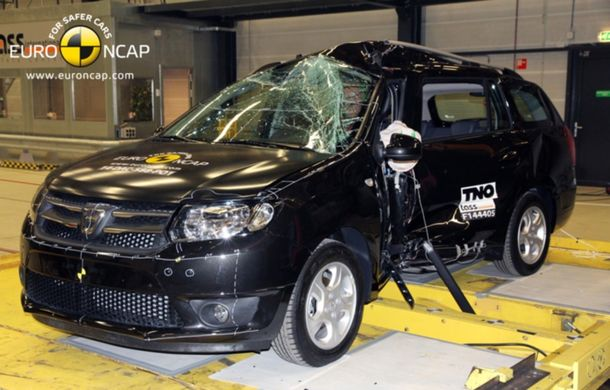 Dacia Logan MCV a obținut doar trei stele EuroNCAP. Familia Logan a fost retrogradată de criteriile de testare mai aspre - Poza 1