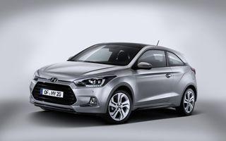 Hyundai i20 Coupe - primele imagini ale variantei mai atractive a subcompactei coreene