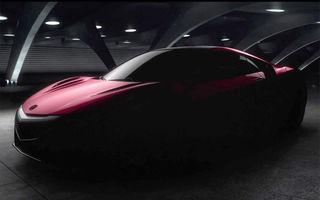 Noul Acura NSX, anunţat printr-un teaser video oficial