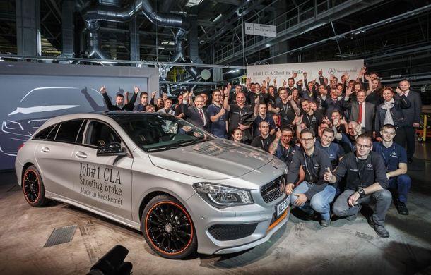 Mercedes-Benz CLA Shooting Brake a intrat în producţie la fabrica din Ungaria - Poza 1