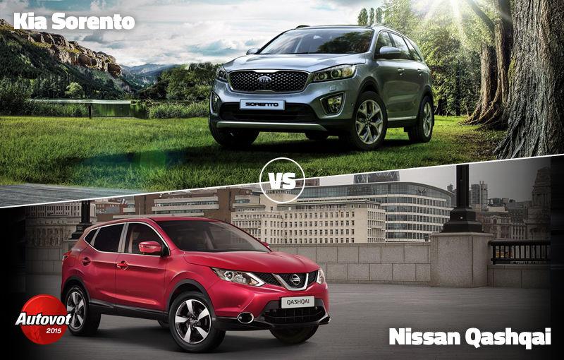 Duelurile zilei în Autovot 2015: Kia Sorento vs. Nissan Qashqai şi Mercedes-Benz Clasa V vs. Smart Fortwo - Poza 1