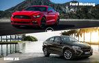 Duel pasionant astăzi în Autovot 2015: războiul popularităţii se dă timp de 24 de ore între BMW X6 şi Ford Mustang