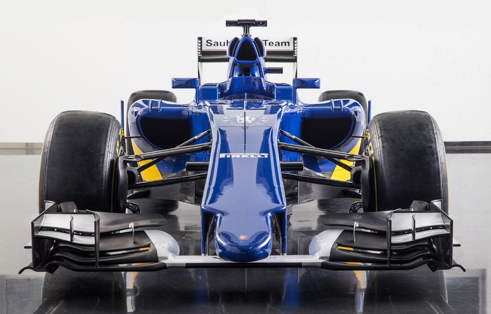 Noul monopost Sauber pentru sezonul 2015 este albastru-galben - Poza 2