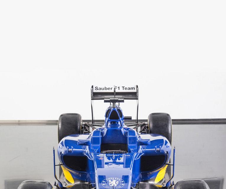 Noul monopost Sauber pentru sezonul 2015 este albastru-galben - Poza 4