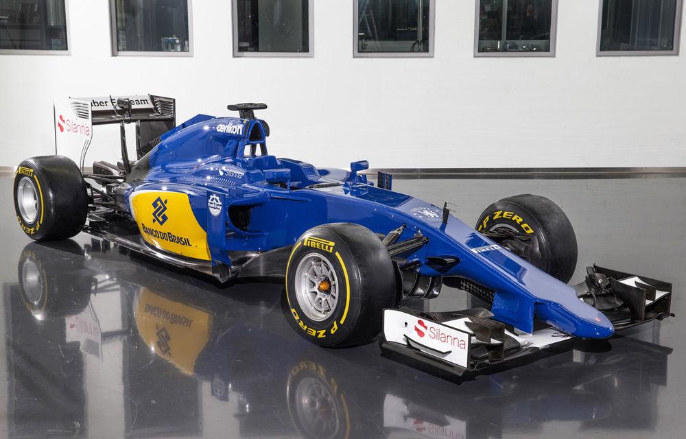 Noul monopost Sauber pentru sezonul 2015 este albastru-galben - Poza 1