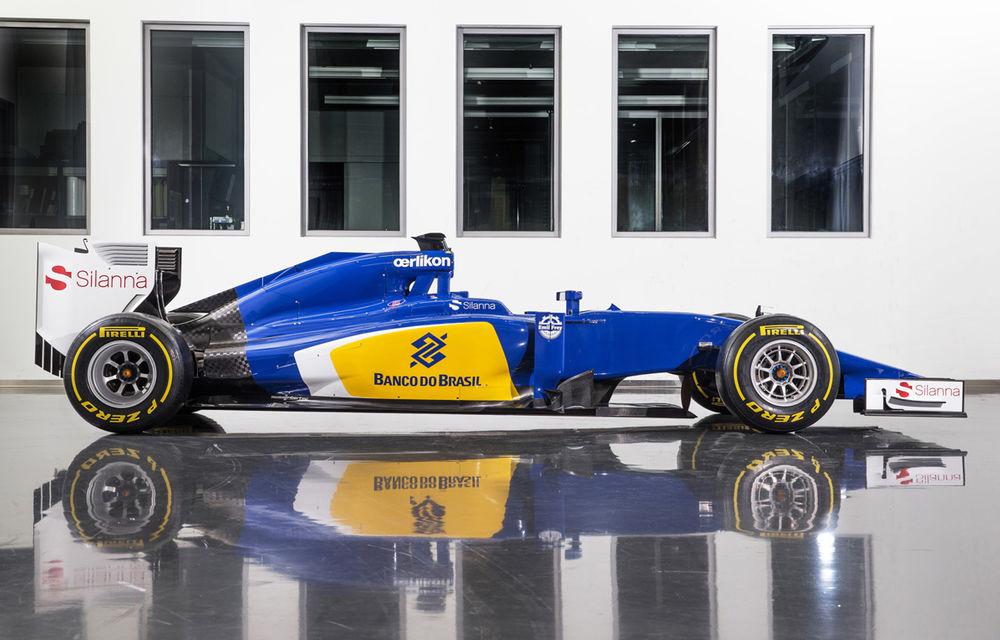Noul monopost Sauber pentru sezonul 2015 este albastru-galben - Poza 3