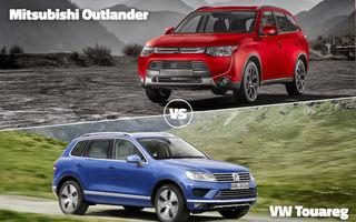 Luptă între titani astăzi în Autovot: VW Touareg versus Mitsubishi Outlander