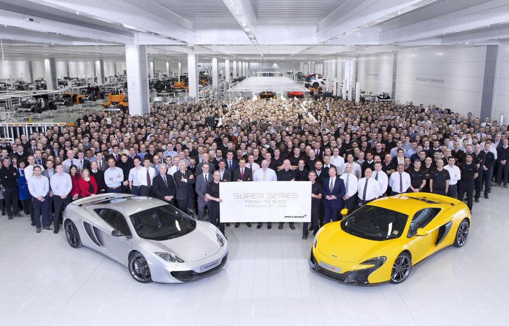 McLaren sărbătorește primul său record de producție: 5000 de mașini în doar patru ani - Poza 1