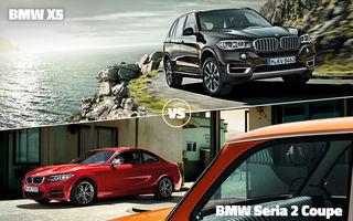 BMW X5 şi BMW Seria 2 Coupe se luptă astăzi în familie pentru a trece mai departe în Autovot 2015