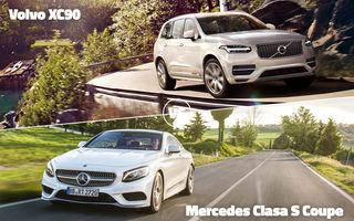 Ford Mondeo, Mercedes-Benz S Coupe, Volvo XC90 şi Peugeot 3008 se află în luptă directă azi în Autovot