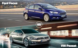 Războiul Stelelor astăzi în Autovot: Ford Focus vs. VW Passat şi Audi TT vs. Mercedes CLS