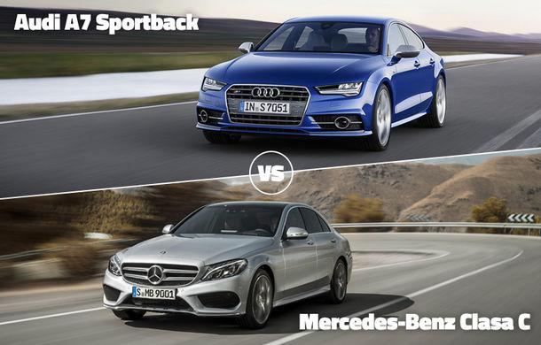 Audi şi Mercedes-Benz, în corzi: A7 Sportback şi Clasa C se luptă astăzi pentru calificare în Autovot 2015 - Poza 1