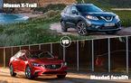 Provocările de azi în Autovot 2015: Nissan X-Trail vs. Mazda6 şi Jaguar F-Type vs. Porsche Cayenne