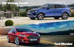 Ultima zi a sferturilor aduce dueluri încinse în Autovot: VW Touareg vs. Ford Mondeo şi BMW X5 vs. Mercedes S Coupe