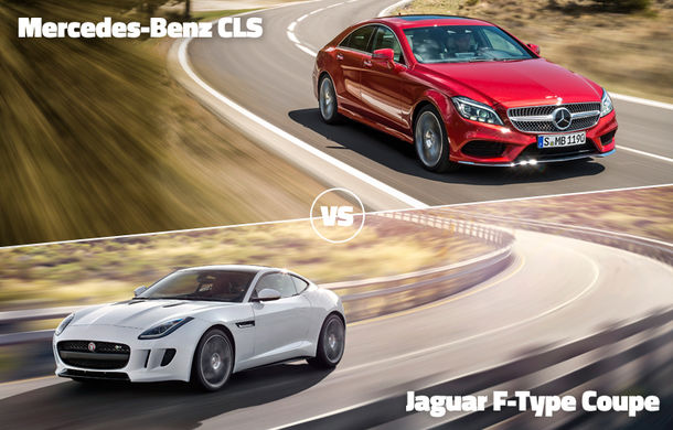 Finala mică a început: Mercedes CLS vs. Jaguar F-Type şi Volkswagen Touareg contra Golf Sportsvan - Poza 1