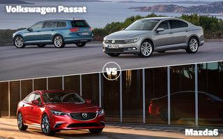 E ziua marilor finale în Autovot 2015: VW Passat vs. Mazda6 la categoria Maşini Accesibile şi Audi A7 vs. Mercedes S Coupe la Maşini Premium