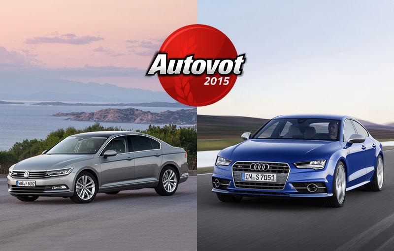 PUBLICUL A ALES: 21.500 de votanţi, doi câştigători în Autovot 2015. VW Passat câştigă la Maşini Accesibile, Audi A7 ia titlul categoriei Maşini Premium - Poza 1