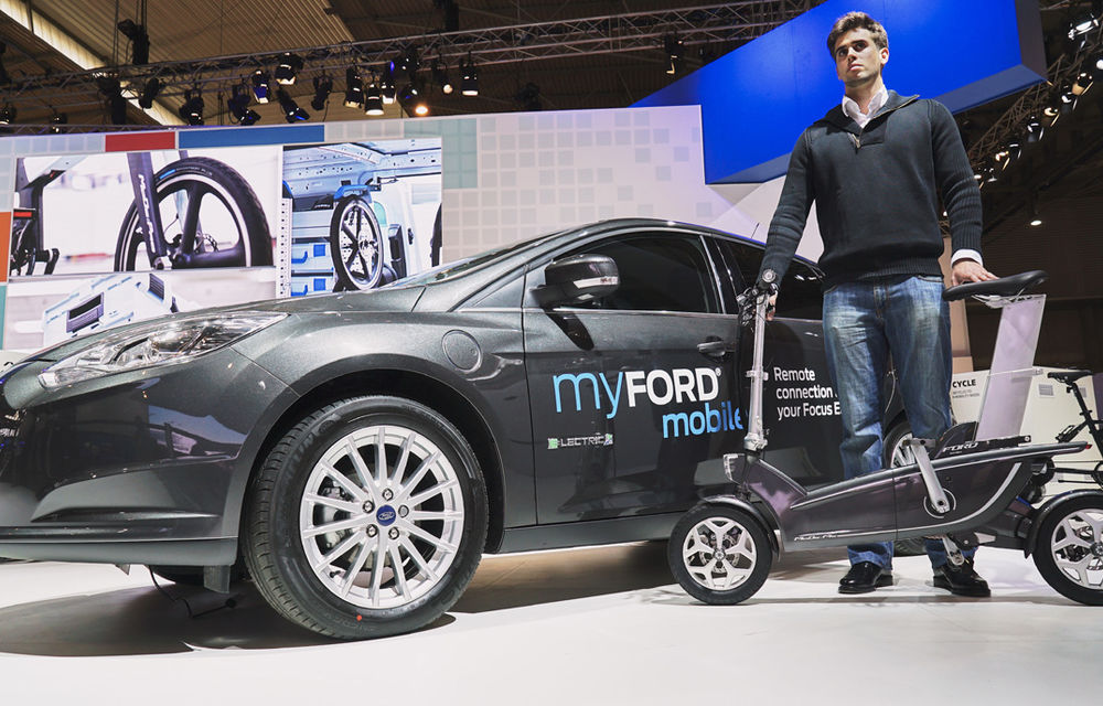 Cum va arăta traficul în oraşul viitorului? Ford propune biciclete electrice şi maşini autonome - Poza 4