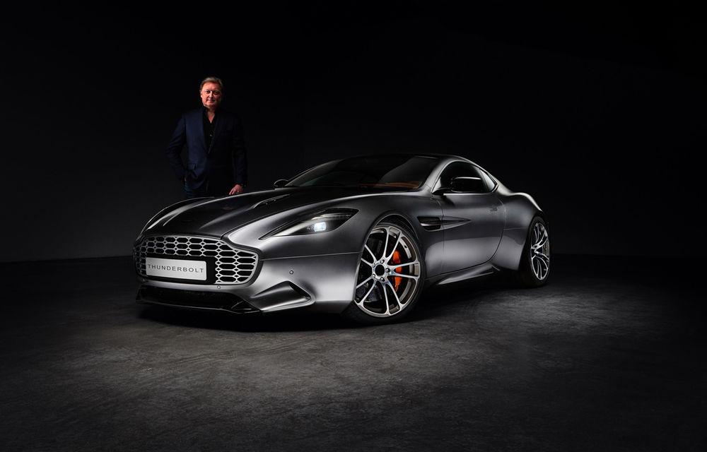Henrik Fisker a creat conceptul Thunderbolt, un supercar bazat pe modelul Aston Martin Vanquish - Poza 5