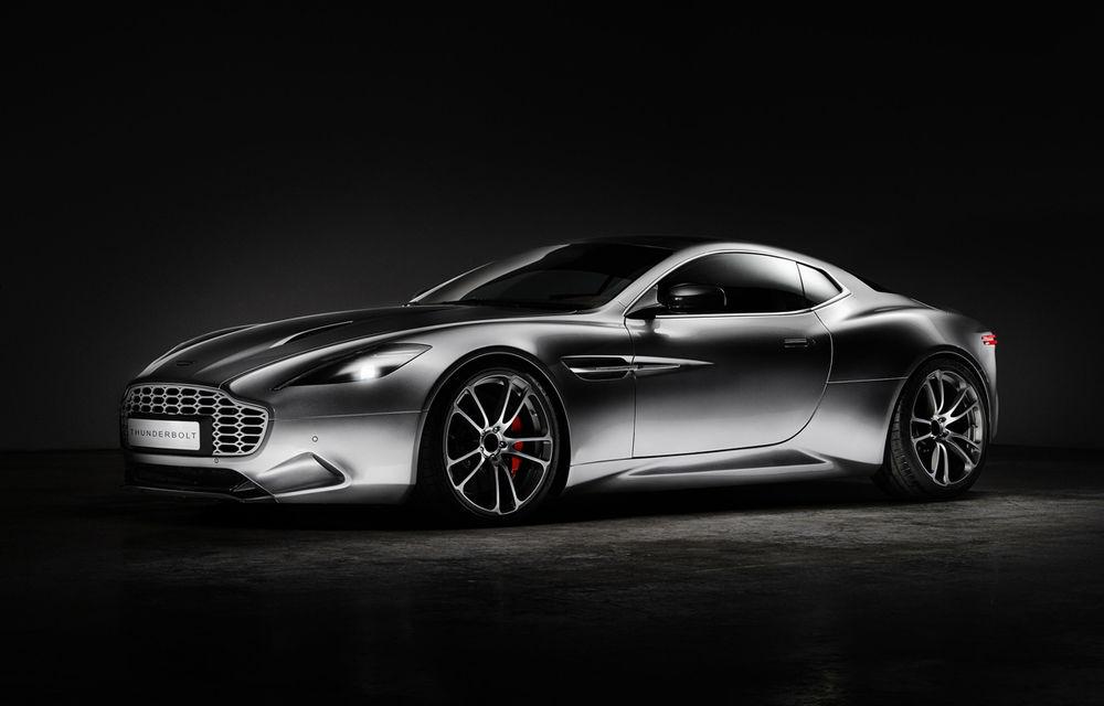 Henrik Fisker a creat conceptul Thunderbolt, un supercar bazat pe modelul Aston Martin Vanquish - Poza 1