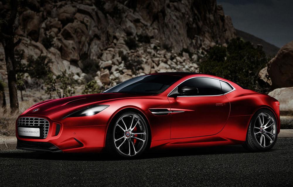 Henrik Fisker a creat conceptul Thunderbolt, un supercar bazat pe modelul Aston Martin Vanquish - Poza 2