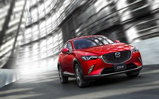 Mazda CX-3 îşi anunţă paleta de motorizări: 2.0 benzină şi 1.5 diesel pentru SUV-ul japonez de clasă mică