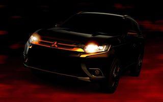 Mitsubishi Outlander facelift: primele imagini teaser cu versiunea îmbunătăţită a SUV-ului japonez
