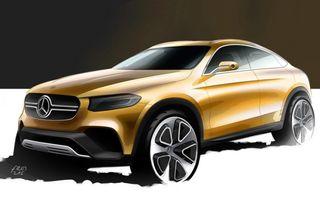 Mercedes-Benz GLC Coupé - prima schiţă a viitorului rival al lui BMW X4