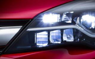 Opel Astra va avea faruri cu matrice de LED-uri în echiparea opţională