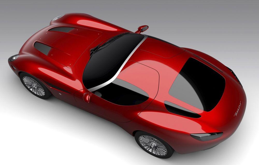 Zagato îl prezintă în acest weekend pe Mostro, un coupe în serie limitată care celebrează centenarul Maserati - Poza 4