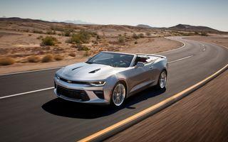 Chevrolet Camaro Cabrio: primele imagini și informații oficiale