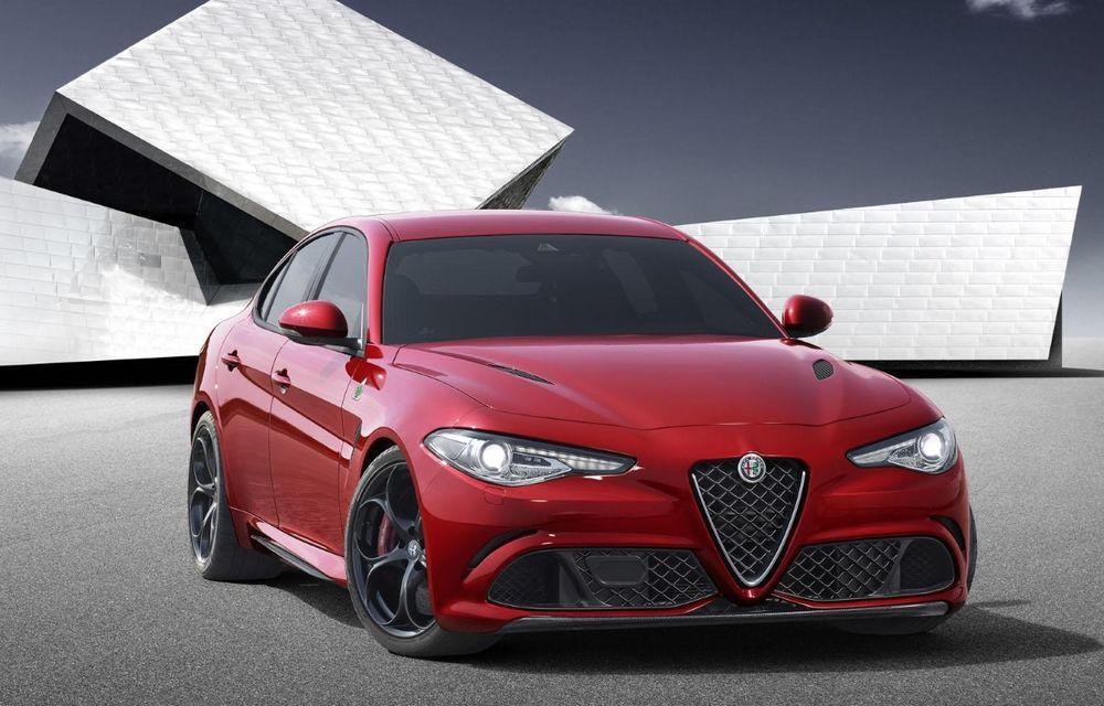 Alfa Romeo Giulia e aici. 510 CP și 0-100 km/h în 3.9 secunde pentru versiunea rivală cu BMW M3 - Poza 1