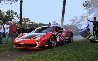 Un italian își propune să stabilească un record de viteză pe Transfăgărășan cu un Ferrari 458