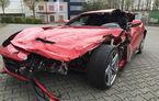 Un german cere 77.000 de euro pe epava unui Ferrari F12 Berlinetta făcut daună totală