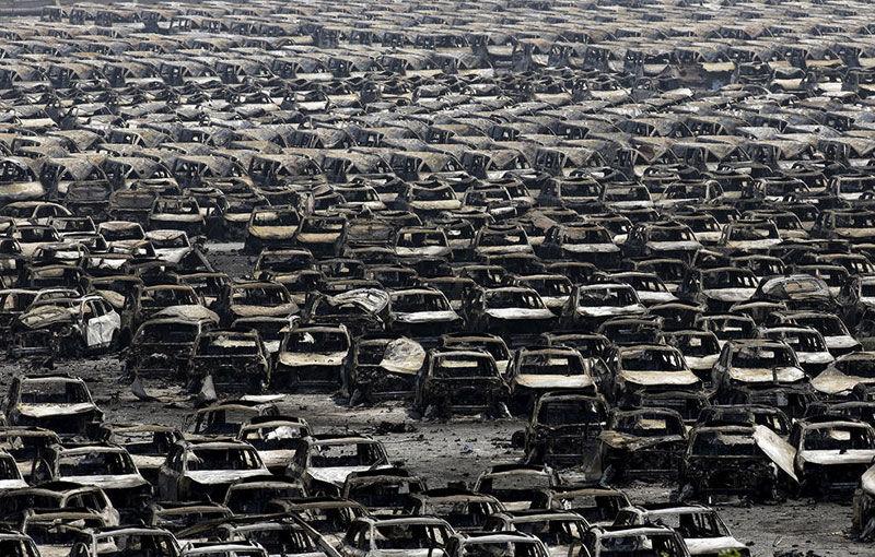 Hyundai, Renault și Volkswagen au pierdut aproape 10.000 de mașini în explozia chimică din portul Tianjin - Poza 2