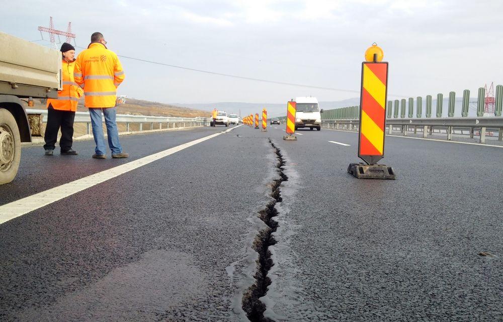 CNADNR își remediază greșelile: secțiunea cu probleme a autostrăzii Sibiu-Orăștie este în reparații - Poza 1
