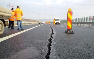 CNADNR își remediază greșelile: secțiunea cu probleme a autostrăzii Sibiu-Orăștie este în reparații