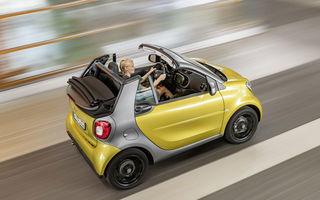 Smart Fortwo Cabrio: decapotabila vine cu un acoperiș din pânză, disponibil în trei culori