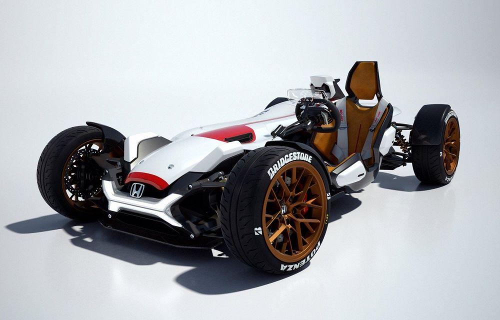 Honda prezintă conceptul unei mașini care promite senzația de libertate a unei motociclete - Poza 1