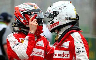Hakkinen anticipează o răcire a relaţiei dintre Vettel şi Raikkonen la Ferrari