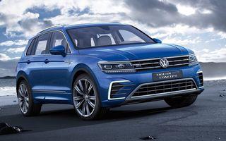 VW Tiguan GTE anunță viitoarea versiune hibrid plug-in: 1.9 l/100 km și panouri solare pe plafon