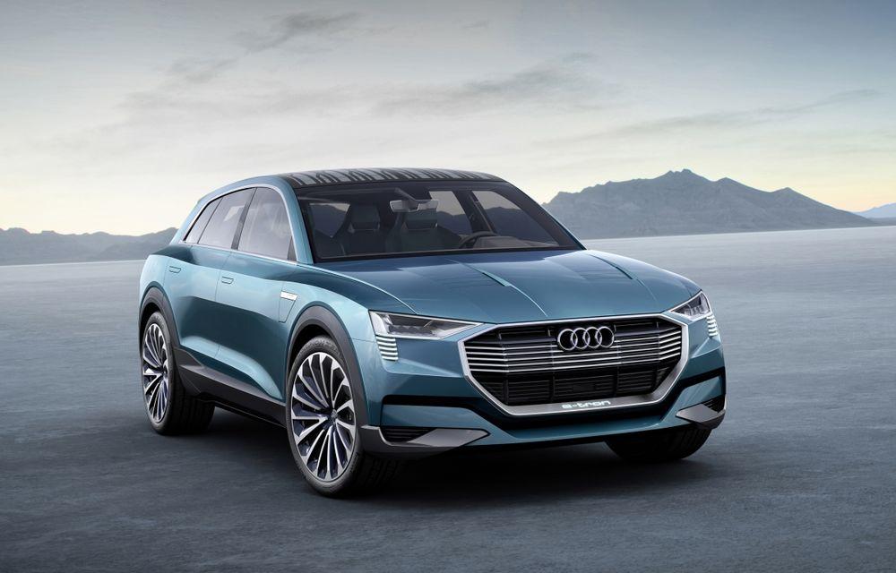 Audi e-tron quattro concept, primul SUV 100% electric al nemților, anunță 435 CP și o autonomie de peste 500 kilometri - Poza 1