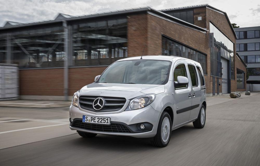 Mercedes-Benz Citan, fratele german al lui Renault Kangoo, primește un motor 1.2 benzină turbo și o transmisie automată - Poza 1