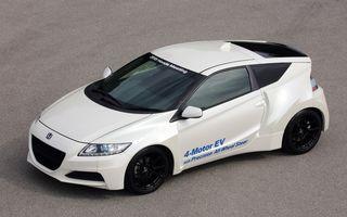 Honda ar putea lansa o mașină sport electrică: caroserie de CR-Z, patru motoare și până la 350 CP
