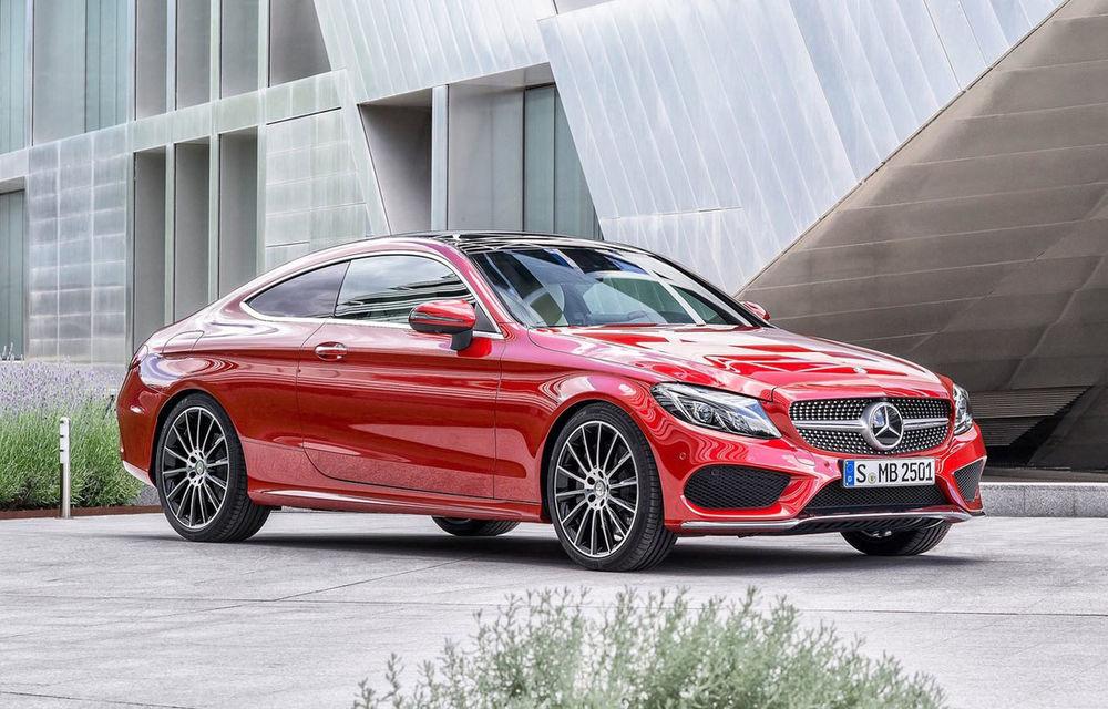 Ce motoare are noul Mercedes Clasa C Coupé? Între 4.1 litri/100 km şi 3.9 secunde pentru 0-100 km/h - Poza 1