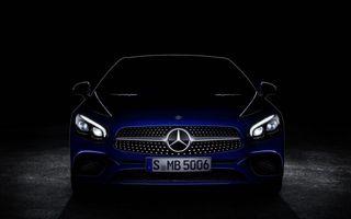 Mercedes-Benz SL va primi un facelift: iată primul teaser